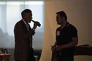 Attendees exchange ideas during the Silicon Valley Business Journal's HHaaS Tech Mixer at ZERO1 in San Jose, California, on May 28, 2015. (Stan Olszewski/SOSKIphoto for the Silicon Valley Business Journal)