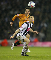 Photo: Rich Eaton.<br /> <br /> West Bromwich Albion v Wolverhampton Wanderers. Coca Cola Championship. Play off Semi Final 2nd Leg. 16/05/2007. West Broms Zoltan Gera gets to the ball ahead of Wolves Michael McIndoe