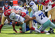 Dallas Cowboys linebacker James Morris (46) is tackled by the San Francisco 49ers at Levis Stadium in Santa Clara, Calif., on October 2, 2016. (Stan Olszewski/Special to S.F. Examiner)