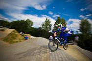 #130 (MOROSINI CHAVES Thaynara) BRA at the 2014 UCI BMX Supercross World Cup in Berlin, Germany.