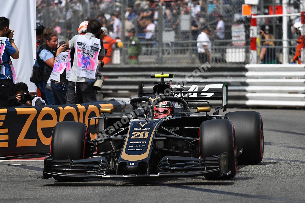 Kevin Magnussen (Haas-Ferrari) during qualifying before the 2019 Monaco Grand Prix. Photo: Grand Prix Photo