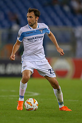 September 20, 2018 - Rome, Lazio, Italy - 20th September 2018, Stadio Olimpico, Rome, Italy; UEFA Europa League football, Lazio versus Apollon Limassol; Milan Badelj of Lazio controls the ball  Credit: Giampiero Sposito/Pacific Press (Credit Image: © Giampiero Sposito/Pacific Press via ZUMA Wire)