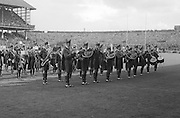 Brass band playing before the All Ireland Senior Gaelic Football Final Kerry v Down in Croke Park on the 22nd September 1968. Down 2-12 Kerry 1-13.