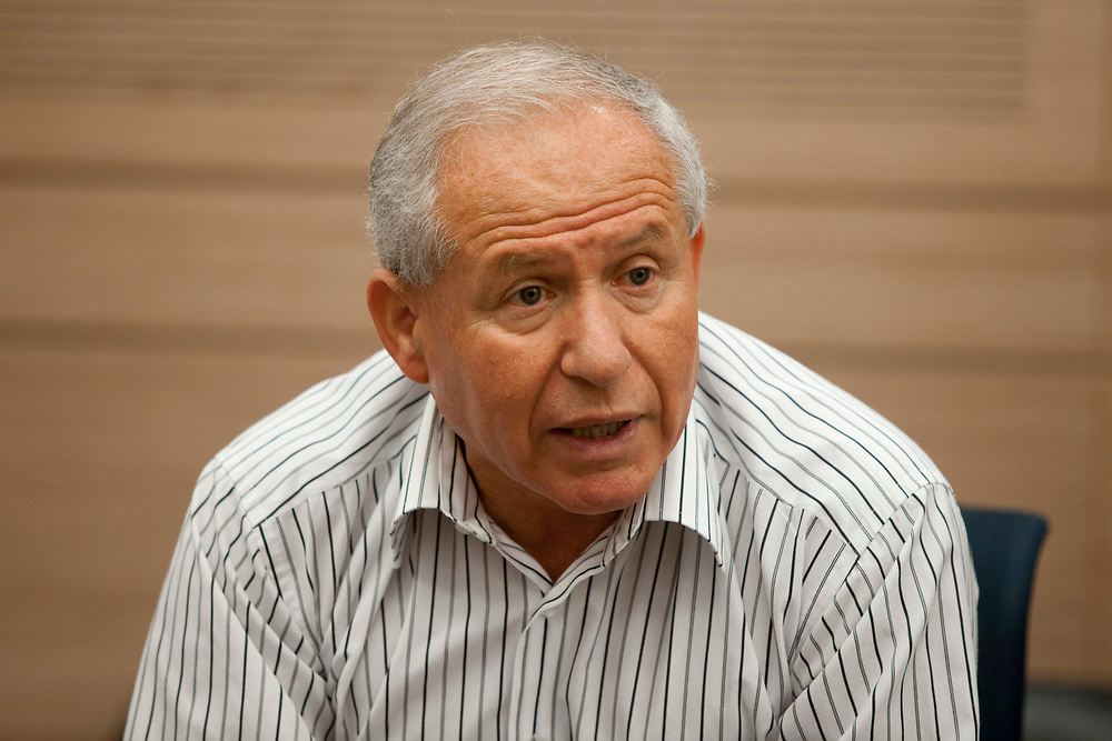 Israeli lawmaker, Knesset member and former Chief of Israel's Shin Bet internal security service Avi Dichter of Kadima party speaks during a session of the Foreign Affairs and Defense Committee at the Knesset, Israel's parliament in Jerusalem, on September 4, 2011.