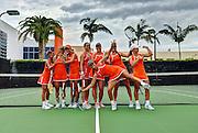 2014 Miami Hurricanes Women's Tennis Photo Day