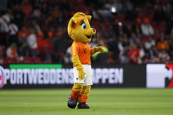 mascotte Kicky during the International friendly match match between The Netherlands and Peru at the Johan Cruijff Arena on September 06, 2018 in Amsterdam, The Netherlands