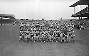 The victorious Kerry team before the All Ireland Minor Gaelic Football Final Kerry v. Westmeath in Croke Park on the 22nd September 1963.