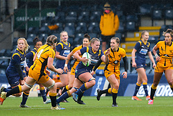 Taz Bricknell of Worcester Warriors Women breaks towards the line - Mandatory by-line: Nick Browning/JMP - 24/10/2020 - RUGBY - Sixways Stadium - Worcester, England - Worcester Warriors Women v Wasps FC Ladies - Allianz Premier 15s