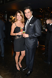 DAVID & GABRIELA PEACOCK at the OMEGA VIP dinner hosted by Cindy Crawford and OMEGA President Mr. Stephen Urquhart held at aqua shard', Level 31, The Shard, 31 St Thomas Street, London, SE1 9RY on 10th December 2014.