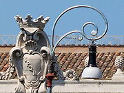 Architectural and Sculptural detail in Saint Peter's Square in the Vatican City, Italy. The actual square was designed by Gian Lorenzo Bernini.