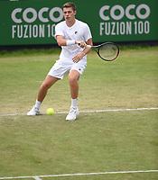 Neal Skupski on Day Six of the Fuzion 100 Surbiton Trophy at the Surbiton Racket & Fitness Club, Surrey, United Kingdom.<br /> Picture by Daniel Hambury/Focus Images Ltd 07813022858<br /> 07/06/2018