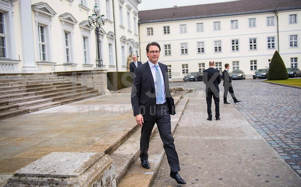 DEU, Deutschland, Germany, Berlin, 14.03.2018: Bundesverkehrsminister Andreas Scheuer (CSU) bei der Ernennung des neuen Bundeskabinetts durch den Bundespräsidenten im Schloss Bellevue.