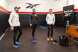 Reebok Boston Track Club<br /> home base training<br /> Rogers, Andrews, Norris