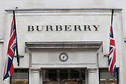 Sign for high end fashion and exclusive brand Burberry.