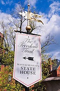 Freedom Trail sign, Boston, Massachusetts