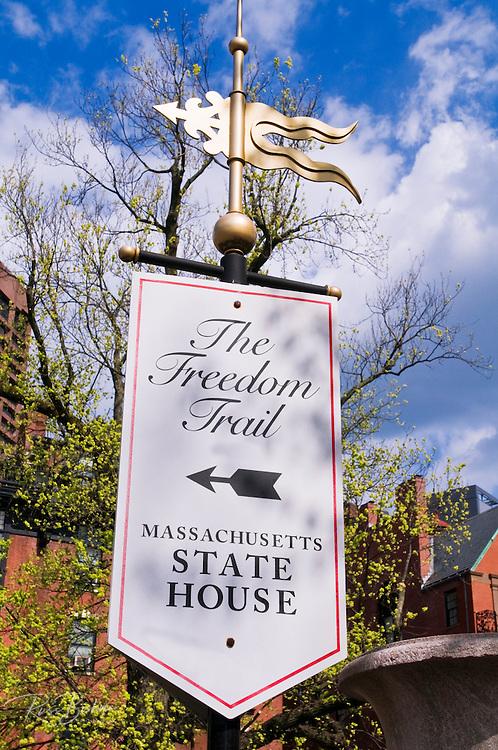 Freedom Trail sign, Boston, Massachusetts