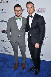 (L-R) Travis Wall and Dom Palange arrives at Jessie Tyler Ferguson's 'Tie The Knot' 5 Year Anniversary celebration held at NeueHouse Hollywood in Los Angeles, CA on Thursday, October 12, 2017. (Photo By Sthanlee B. Mirador/Sipa USA)