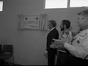 Ballymun Scout Hall.1982.28.07.1982.07.28.1982.28th July 1982.Sean Doherty TD Opens Ballymun Scout Hall,Albert College Drive, Dublin 9 ..The minister unveils the plaque..The plaque shows that the hall was built by prisioners from Mountjoy Prison under the Prison Rehabilitation Programme of Communit Works Projects.