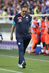 April 29, 2018 - Florence, Florence, Italy - 29th April 2018, Stadio Artemio Franchi, Florence, Italy; Serie A Football, Fiorentina versus Napoli; coach Maurizio Sarri of Napoli leaves the pitch dejected after losing their match 3-0 against Fiorentina  Credit: Giampiero Sposito/Pacific Press (Credit Image: © Giampiero Sposito/Pacific Press via ZUMA Wire)