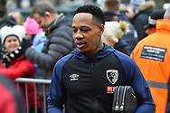Nathaniel Clyne of Bournemouth who signed from Liverpool on loan yesterday, signs autographs for fans on arrival at the Vitality Stadium before the The FA Cup 3rd round match between Bournemouth and Brighton and Hove Albion at the Vitality Stadium, Bournemouth, England on 5 January 2019.