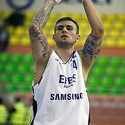 Efes Pilsen's Mario KASUN during their Turkish Basketball league Play Off Final first leg match Efes Pilsen between Fenerbahce Ulker at the Ayhan Sahenk Arena in Istanbul Turkey on Thursday 20 May 2010. Photo by Aykut AKICI/TURKPIX