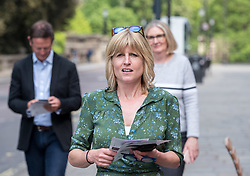 © Licensed to London News Pictures. 16/05/2019. Bath, Bath and North East Somerset, UK. RACHEL JOHNSON goes walkabout in Bath campaigning for Change UK - The Independent Group after they hold a rally at Bath Cricket Club as part of campaigning in the elections for the European Parliament. Photo credit: Simon Chapman/LNP