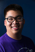 Germain Louie, ASB president, poses for a portrait in the Library at Milpitas High School in Milpitas, California, on May 15, 2015. (Stan Olszewski/SOSKIphoto)