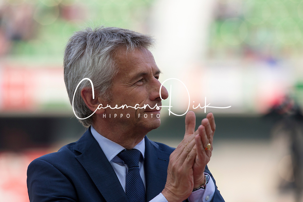 Laurent Beauvais, président du conseil régional - Show Jumping Final Four - Alltech FEI World Equestrian Games™ 2014 - Normandy, France.<br /> © Hippo Foto Team - Leanjo de Koster<br /> 07-09-14