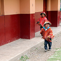 South America, Peru, Willoq. Boys at Willoq School.