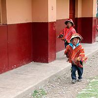 South America, Peru, Willoq. Boys at Willoq School.