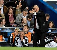 Photo: Richard Lane.<br />Chelsea v Liverpool. UEFA Champions League. Semi Final, 1st Leg. 25/04/2007. <br />Liverpool manager, Rafael Benitez.