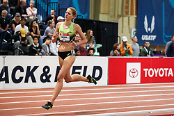 2020 USATF Indoor Championship<br /> Albuquerque, NM 2020-02-15<br /> photo credit: © 2020 Kevin Morris<br /> womens 3000m, Brooks,