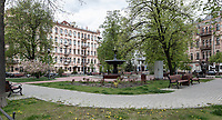 All parks, forests and gardens were closed during Covid lockdown in Kyiv.