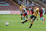 GOAL  Cambridge United  2 Scunthorpe United 0  Paul Mullin scores his second from the spot during the EFL Sky Bet League 2 match between Scunthorpe United and Cambridge United at Glanford Park, Scunthorpe, England on 17 October 2020.