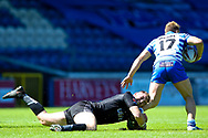 Bradford Bulls second row Cameron Smith (37) gets hold of  Brandon Moore during the Kingstone Press Championship match between Halifax RLFC and Bradford Bulls at the MBi Shay Stadium, Halifax, United Kingdom on 2 July 2017. Photo by Simon Davies.