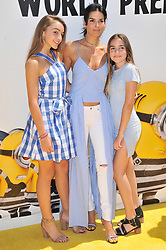 """(L-R) Finley Sehorn, Angie Harmon and Avery Sehorn arrives at the """"Despicable Me 3"""" Los Angeles Premiere held at the Shrine Auditorium in Los Angeles, CA on Saturday, June 24, 2017.  (Photo By Sthanlee B. Mirador) *** Please Use Credit from Credit Field ***"""