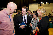Joe Golden and Yvonne Faherty of Moycullen Woodworks with Minister Sean Sherlock and Phil Grealish of  SCCUL at the SCCUL Enterprise awards .Photo:Andrew Downes