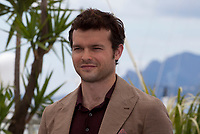 Actor Alden Ehrenreich at the Solo: A Star Wars Story film photo call at the 71st Cannes Film Festival, Tuesday 15th May 2018, Cannes, France. Photo credit: Doreen Kennedy