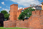 Mury obronne, Stare Miasto w Warszawie, Polska<br /> Walls of the Old Town, Warsaw, Poland