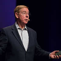 Dr. Gary Chapman psychologist and author best known for his 5 love languages books talks during a lecture in Budapest, Hungary on March 31, 2017. ATTILA VOLGYI