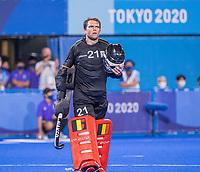 TOKIO - keeper Vincent Vanasch (Bel)  , Spanning is terug omdat er een shoot out misschien moet worden overgenomen  tijdens de hockey finale mannen, Australie-Belgie (1-1), België wint shoot outs en is Olympisch Kampioen,  in het Oi HockeyStadion,   tijdens de Olympische Spelen van Tokio 2020. COPYRIGHT KOEN SUYK