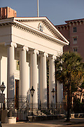 Hibernian Hall along Meeting Street in Charleston, SC.