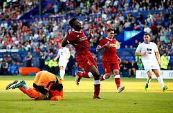 Sheyi Ojo of Liverpool reacts after missing a chance - Mandatory by-line: Matt McNulty/JMP - 12/07/2017 - FOOTBALL - Prenton Park - Birkenhead, England - Tranmere Rovers v Liverpool - Pre-season friendly