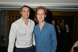Left to right, ADAM BIDWELL and TOM INSKIP at the launch of Geisha at Ramusake hosted by Piers Adam and Marc Burton at Ramusake, 92B Old Brompton Road, London on 11th June 2015.