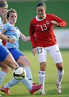 Fotball<br /> 20.01.2011<br /> Treningskamp kvinner<br /> Norge v Nederland / Holland 4:0<br /> Foto: Morten Olsen, Digitalsport<br /> <br /> Ingrid Camilla Fosse Sæthre