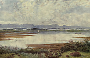 At Lakeside, looking South-East, Cape Town From the book ' The Cape peninsula: pen and colour sketches ' described by Réné Juta and painted by William Westhofen. Published by A. & C. Black, London  J.C. Juta, Cape Town in 1910