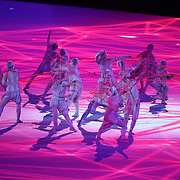 TOKYO, JAPAN - JULY 23: A scene from the Opening Ceremony for the Tokyo 2020 Summer Olympic Games at the Olympic Stadium on July 23, 2021 in Tokyo, Japan. (Photo by Tim Clayton/Corbis via Getty Images)