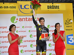 July 18, 2017 - Romans-Sur-Isere, France - ROMANS-SUR-ISERE, FRANCE - JULY 18 : CHAVANEL Sylvain of Direct Energie during stage 16 of the 104th edition of the 2017 Tour de France cycling race, a stage of 165 kms between Le Puy-en-Velay and Romans-Sur-Isere on July 18, 2017 in Romans-Sur-Isere, France, 18/07/2017 (Credit Image: © Panoramic via ZUMA Press)