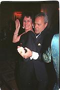 Carla Powell dancing with Taki Theodocopulos.  Paris 1996.<br /> <br />  , -DO NOT ARCHIVE-© Copyright Photograph by Dafydd Jones. 248 Clapham Rd. London SW9 0PZ. Tel 0207 820 0771. www.dafjones.com.