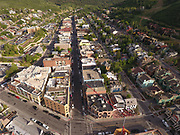 SHOT 7/1/17 7:01:43 PM - Drone photos of Park City, Utah. Park City lies east of Salt Lake City in the western state of Utah. Framed by the craggy Wasatch Range, it's bordered by the Deer Valley Resort and the huge Park City Mountain Resort, both known for their ski slopes. Utah Olympic Park, to the north, hosted the 2002 Winter Olympics and is now predominantly a training facility. In town, Main Street is lined with buildings built during a 19th-century silver mining boom. (Photo by Marc Piscotty / © 2017)